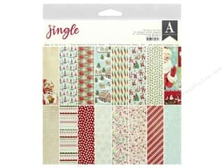 christmas ribbon: Authentique Collection Jingle Collection Kit 12 in. x 12 in.