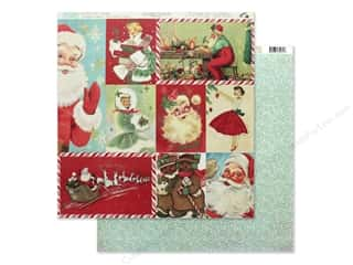 Clearance: Authentique Collection Jingle Paper 12 in. x 12 in. Eight (25 pieces)