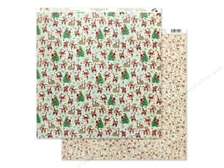 scrapbooking & paper crafts: Authentique Collection Jingle Paper 12 in. x 12 in. Six (25 pieces)