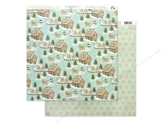 scrapbooking & paper crafts: Authentique Collection Jingle Paper 12 in. x 12 in. Four (25 pieces)