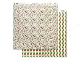 scrapbooking & paper crafts: Authentique Collection Jingle Paper 12 in. x 12 in. Five (25 pieces)