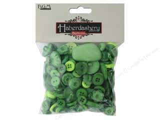 Button: Buttons Galore Haberdashery Buttons Classic Green