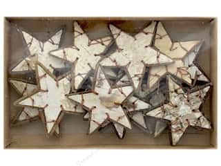 Sierra Pacific Crafts Decor Wood Bark Stars Birch