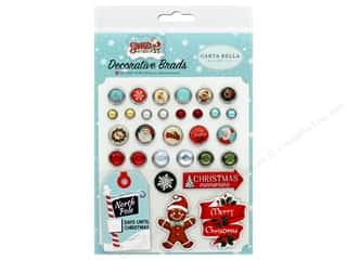 Clearance: Carta Bella Collection Santa's Workshop Deco Brads