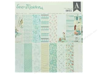 scrapbooking & paper crafts: Authentique Collection Sea Maiden Paper Pad 12 in. x 12 in.