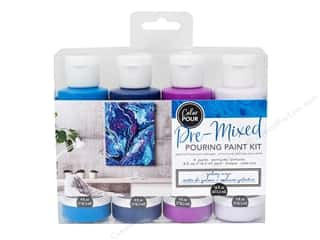 craft & hobbies: American Crafts Color Pour Pre Mixed Paint Kit Galaxy Surge 4 pc