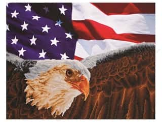 beading & jewelry making supplies: Diamond Dotz Facet Art Kit Advanced Bald Eagle & Flag