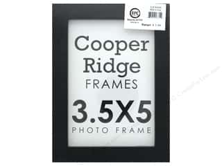 Sierra Pacific Crafts Frame Wood 3.5 in. x 5 in. With Easel Black