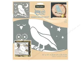 craft & hobbies: DecoArt Stencil Americana Adhesive 10 in. x 10 in. Owl