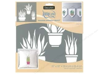 craft & hobbies: DecoArt Stencil Americana Adhesive 10 in. x 10 in. Aloe Vera