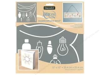 twine: DecoArt Stencil Americana Adhesive 10 in. x 10 in. String Of Lights