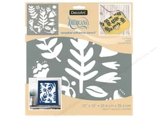 craft & hobbies: DecoArt Stencil Americana Adhesive 10 in. x 10 in. Fun Floral