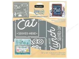 craft & hobbies: DecoArt Stencil Americana Adhesive 10 in. x 10 in. Food Truck Sign