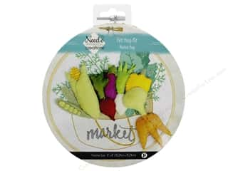 Clearance: Needle Creations Kit Felt Hoop 6 in. Market Bag