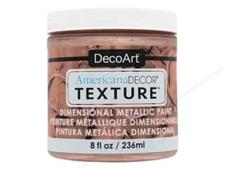 craft & hobbies: DecoArt Americana Decor Texture Metallics Rose Gold 8 oz