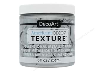 craft & hobbies: DecoArt Americana Decor Texture Metallics Silver 8 oz