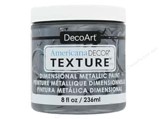 craft & hobbies: DecoArt Americana Decor Texture Metallics Zinc 8 oz