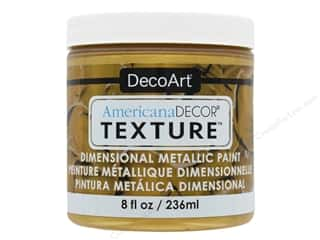 craft & hobbies: DecoArt Americana Decor Texture Metallics Bright Gold 8 oz