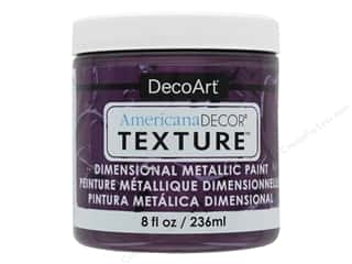 craft & hobbies: DecoArt Americana Decor Texture Metallics Plum 8 oz