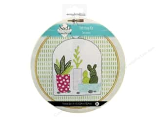 "yarn & needlework: Needle Creations Kit Felt Hoop 6"" Terrarium"