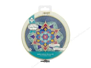 "Needle Creations Kit Embroidery Hoop 6"" Denim Mandala"