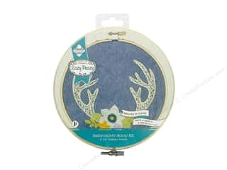 yarn: Needle Creations Kit Embroidery Hoop 6 in. Denim Antlers