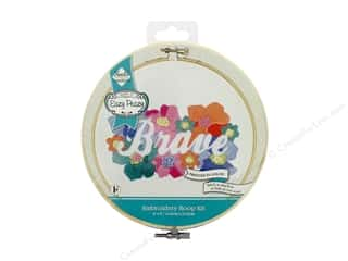 "Needle Creations Kit Embroidery Hoop 6"" Brave Reverse"