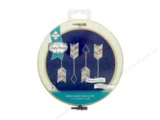 yarn: Needle Creations Kit Embroidery Hoop 6 in. Denim Arrows