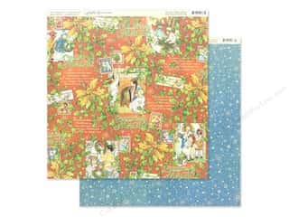 scrapbooking & paper crafts: Graphic 45 Collection Christmas Magic Paper 12 in. x 12 in. Merry Memories (25 pieces)