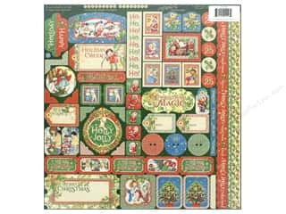 Clearance: Graphic 45 Collection Christmas Magic Stickers
