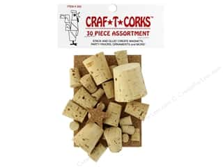 Cork Stoppers: Hearts & Crafts Craf-T-Corks Cork Stopper 36 pc. Assorted