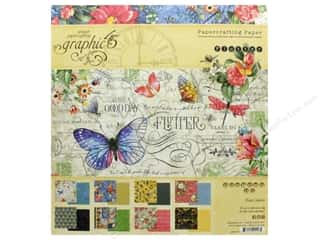 """Graphic 45 Collection Flutter Paper Pad 8""""x 8"""""""