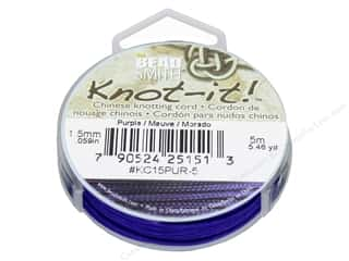 craft & hobbies: The Beadsmith Chinese Knotting Cord 1.5 mm Purple