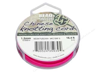craft & hobbies: The Beadsmith Chinese Knotting Cord 1.5 mm Neon Fuschia