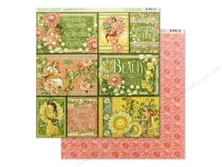 scrapbooking & paper crafts: Graphic 45 Collection Garden Goddess Paper 12 in. x 12 in. Shine From Within (25 pieces)