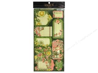 ribbon: Graphic 45 Collection Garden Goddess Tags & Pockets