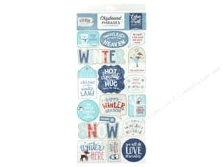 "Echo Park Collection Celebrate Winter Chipboard 6""x 12"" Phrases"