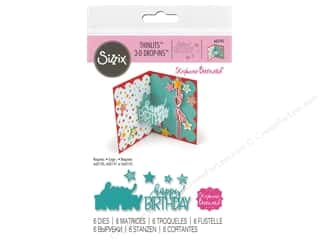 die cuts: Sizzix Dies Stephanie Barnard Thinlits 3D Drop In Happy Birthday