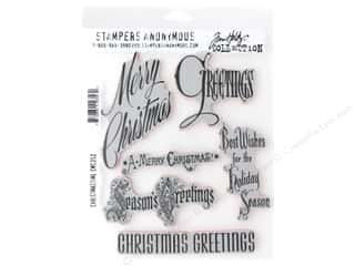 scrapbooking & paper crafts: Stampers Anonymous Tim Holtz Cling Mount Stamp Set - Christmas Time