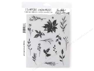 Stampers Anonymous Tim Holtz Cling Mount Stamp Set - Winter Watercolor