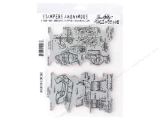 scrapbooking & paper crafts: Stampers Anonymous Tim Holtz Cling Mount Stamp Set - Inventor 6