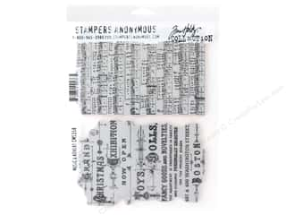 Stampers Anonymous Cling Mount Stamp Tim Holtz Music & Advert