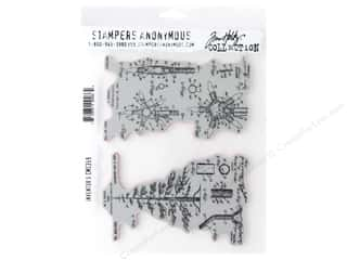 Stampers Anonymous Tim Holtz Cling Mount Stamp Set - Inventor 5