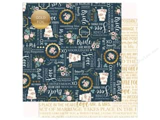 Echo Park Collection Just Married Paper 12 in. x 12 in. Something Blue (25 pieces)