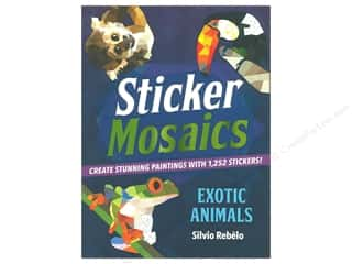books & patterns: Castle Point Sticker Mosaics Exotic Animals Book