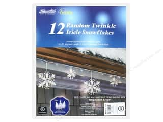 craft & hobbies: Sierra Pacific Crafts Lights Random Twinkle Icicle/Snowflake Clear 12 pc