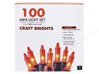 craft & hobbies: Sierra Pacific Crafts Lights Add-A-Set 100 ct Amber