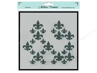 craft & hobbies: Melissa Frances Stencil 6 x 6 in. Fleur De Lis Missing