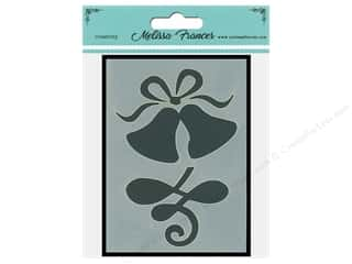 craft & hobbies: Melissa Frances Stencil 3 x 4 in. Wedding Bells