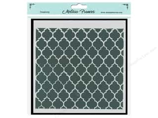 craft & hobbies: Melissa Frances Stencil 6 x 6 in. Lattice